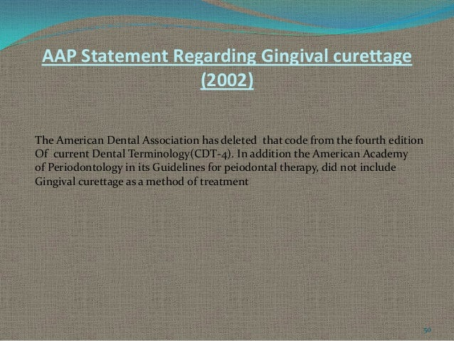 American academy of periodontology guidelines