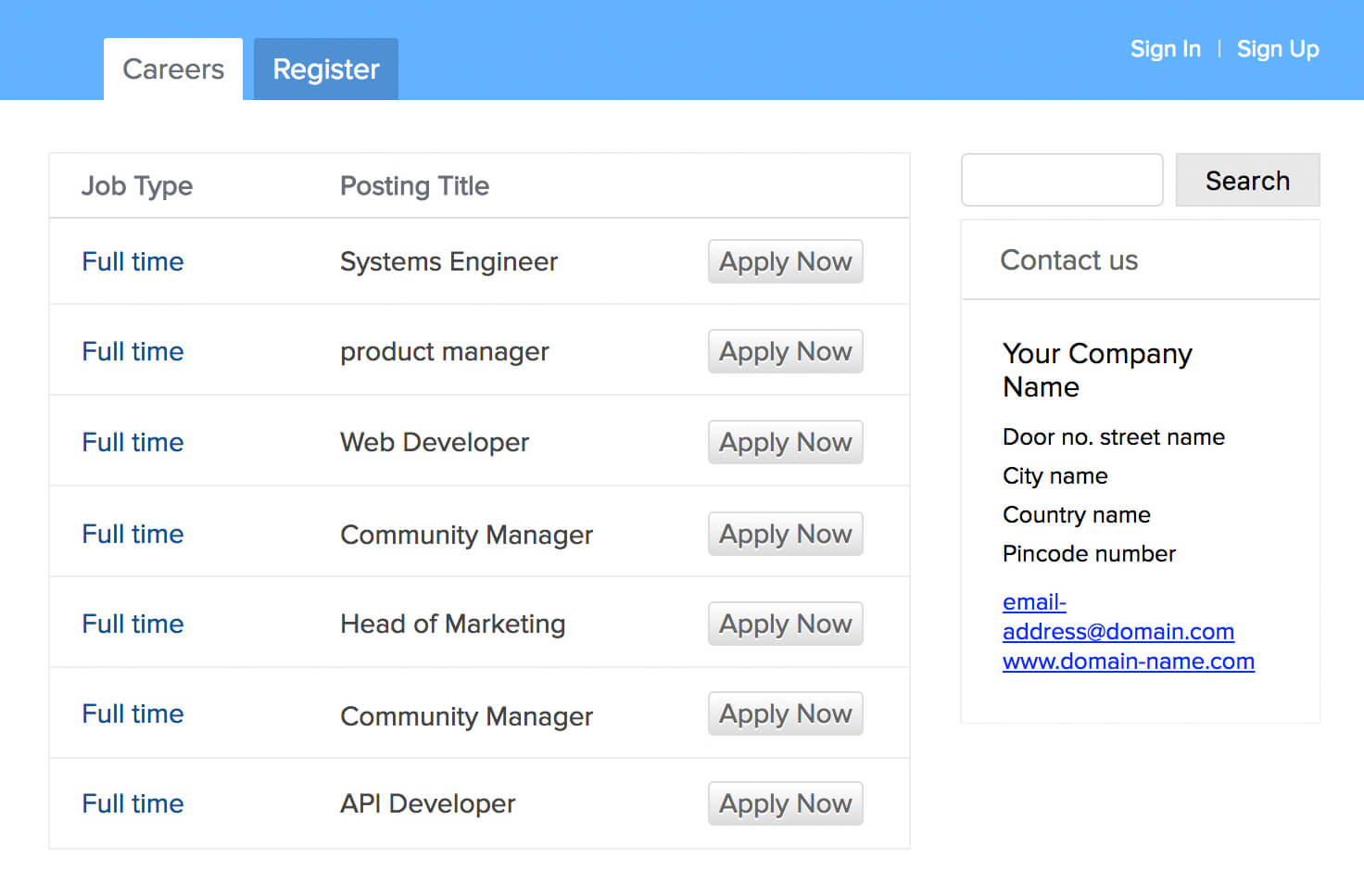 Pageuppeople job application status sourcing