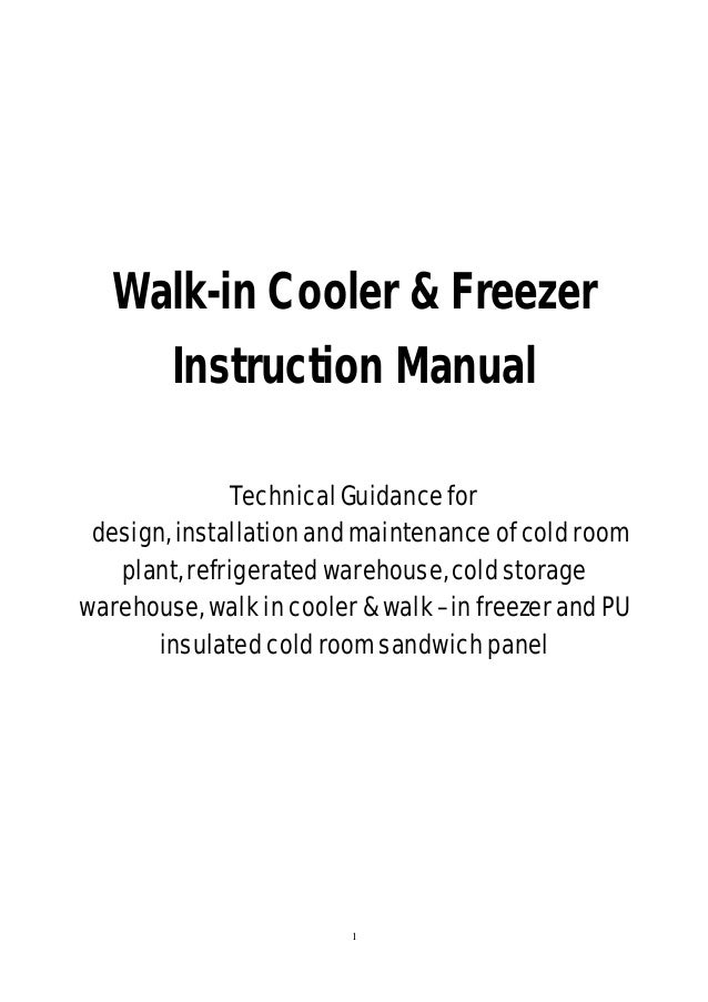 Cold room cleaning instructions