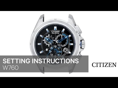 Citizen 8700 setting instructions