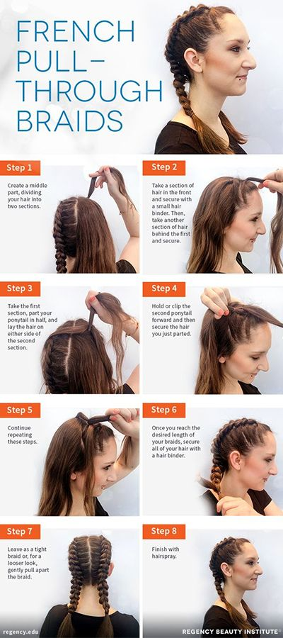 Two french braids tutorial