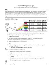 Electron energy and light pogil answers pdf