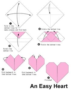 simple origami heart printable instructions