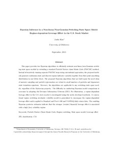State-space models with regime switching kim nelson pdf
